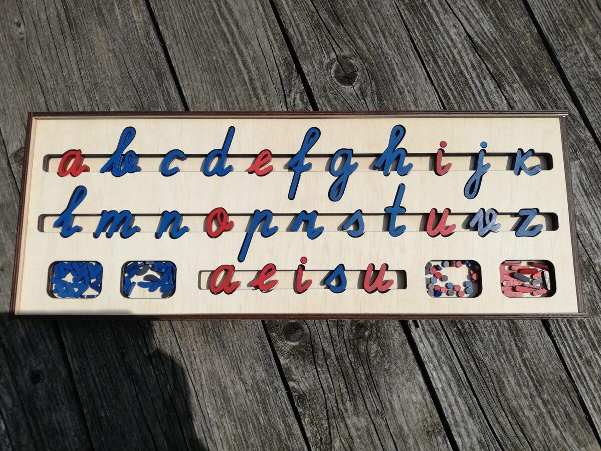 """Kustīgais alfabēts """"Mazie rakstītie burti"""""""