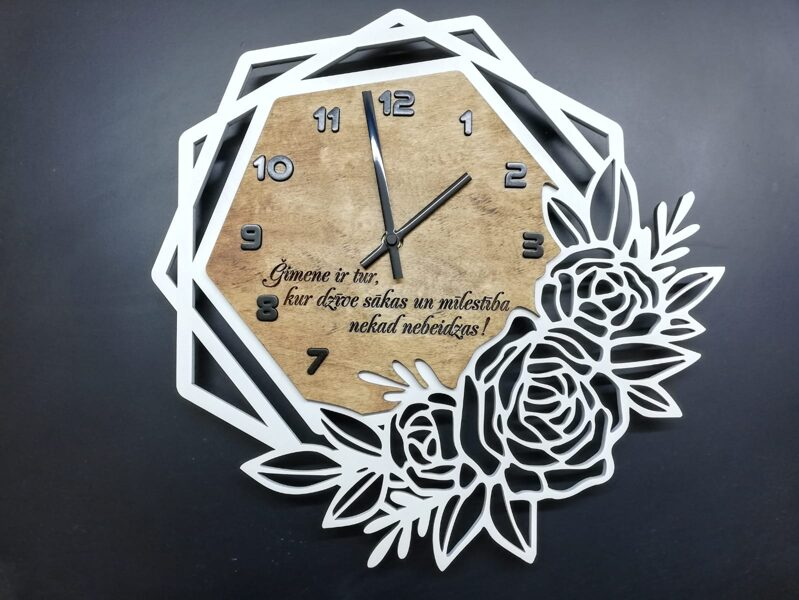 Koka pulkstenis #1