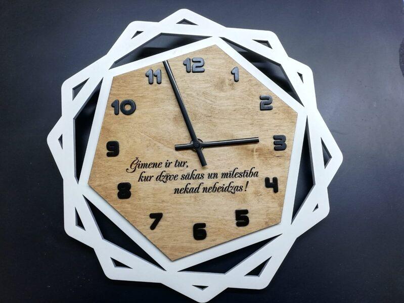 Koka pulkstenis #3